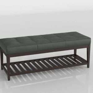 3D Bench C&B Nash Leather Small