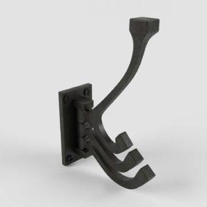 3D Wall Hook CB2 Black Prong