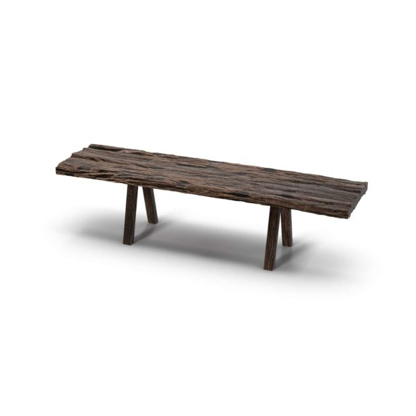3D Bench R&H Tree Bark