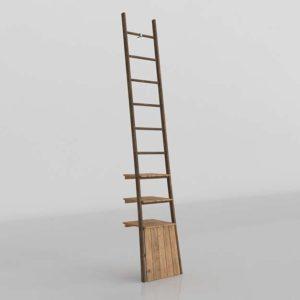 3D Ladder Interior Design Wood