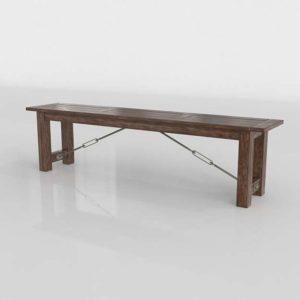 3D Dining Bench WorldMarket Garner Wood