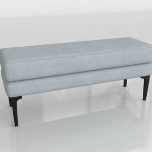 3D Bench Auburn Twill Platinum