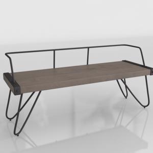 3D Bench Homedepot Stefani Walnut