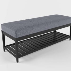 3D Bench C&B Nash Small Tufted