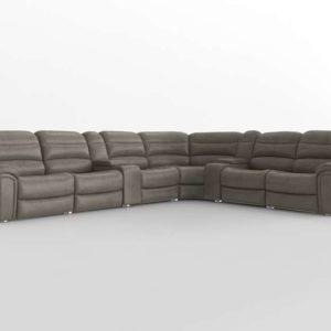 Sofa 3D Seccional WestElm Reclinable Grande