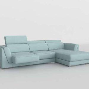 Sofá 3D Seccional FabricaSofas Lucca