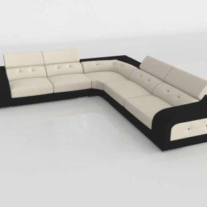 Sofá 3D Seccional FabricaSofas Senso