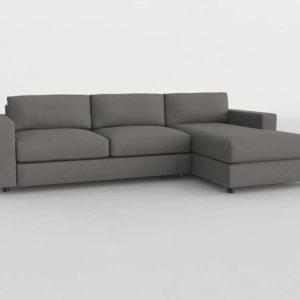 Sofa 3D Seccional WestElm Urban