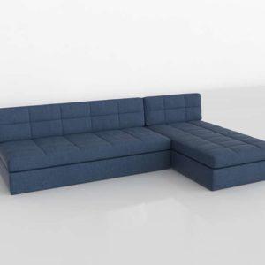 Sofa 3D Seccional C&B Chaise Longue