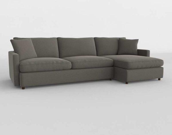 Sofa 3D Seccional C&B Lounge II Petite