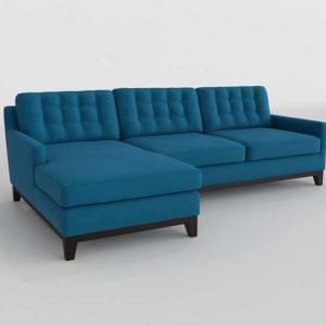 Sofa 3D Seccional C&B Lounge Turquesa