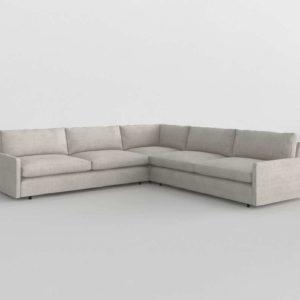 Sofa 3D Seccional Arhaus Kipton Corner