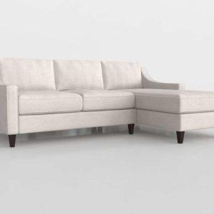 Sofá 3D Seccional WestElm Paidge Flip