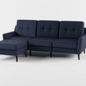 Sofá 3D Seccional Burrow Sofá con Otomana