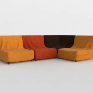 Sofá 3D Seccional GE Modelo 40