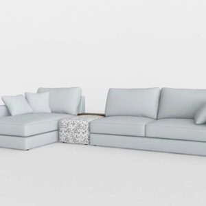 Sofá 3D Seccional DecoracionPeyra Luna