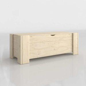 3D Trunk MueblesLufe Wood Beige