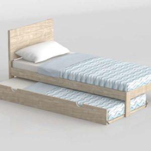 3D Bed MueblesLufe with Underbed 01