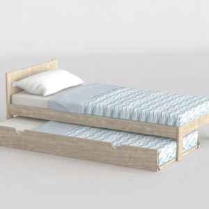 3D Bed MueblesLufe with Underbed 02