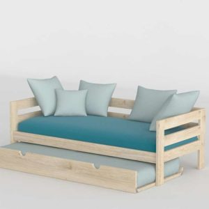3D Bed MueblesLufe with Underbed Turquoise
