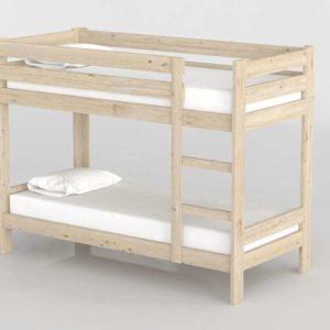 3D Bunk Bed MueblesLufe Natural Wood