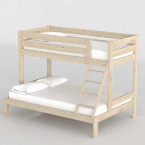 3D Bunk Bed MueblesLufe Triolo Tall Bed