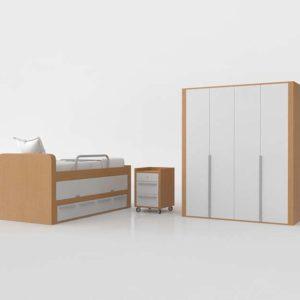 Bedroom Set 3D SCC con Nido
