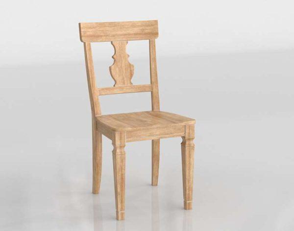 3D Dinning Chair Pier1 Natural Stonewash