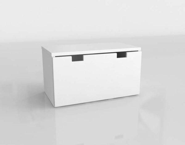 Modelo 3D Banco con Arcón Stuva