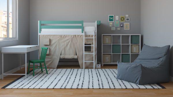 Habitación Infantil Escandinava / Set Modelos 3D