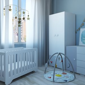 Moon&Stars Nursery Bedroom / 3D Models Set