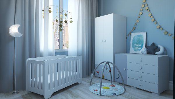 Habitación Infantil Luna y Estrellas / Set Modelos 3D