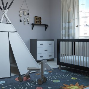 Teepee Nursery Bedroom / 3D Models Set