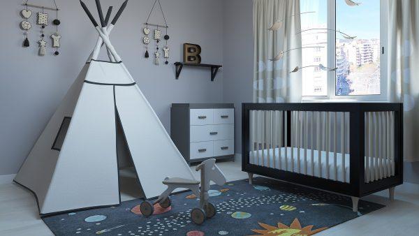 Set de Modelos 3D / Habitación infantil Tipi