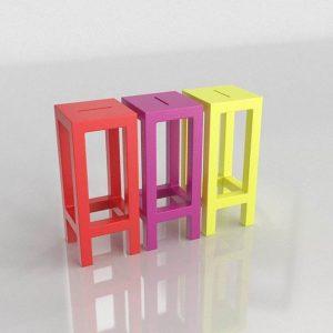 Taburetes 3D Benlliure&Baixauli Jut Vondom