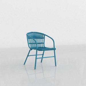 3D Chair Benlliure&Baixauli Mar Azul