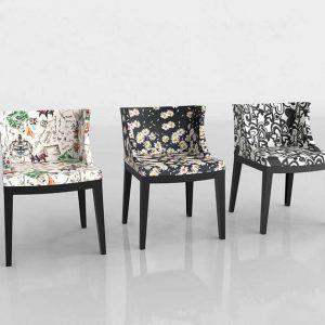 3D Chairs Benlliure&Baixauli Upholstered Mademoiselle