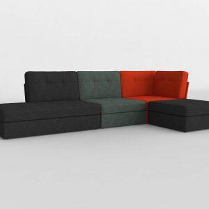 Sofá 3D Benlliure&Baixauli Mondrian