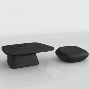 Conjunto 3D Mesa y Taburete Benlliure&Baixauli Moma Vondom