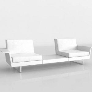 Sofá 3D Benlliure&Baixauli Delta Vondom