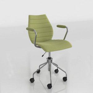3D Desk Chair Benlliure&Baixauli Maui Soft Kartell
