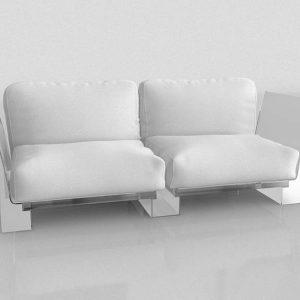 Sofá 3D Benlliure&Baixauli Pop Kartell
