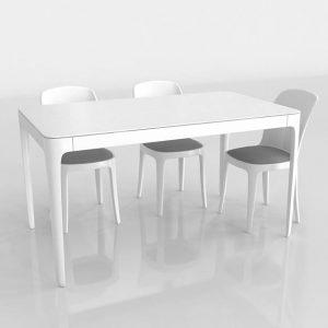 3D Dining Set Benlliure&Baixauli Vanity Magis