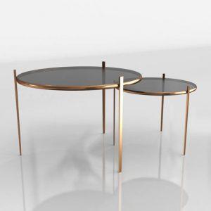 3D Coffe Tables Set Benlliure&Baixauli Hollywood