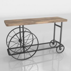 3D Console Table Kiona Vintage Rules