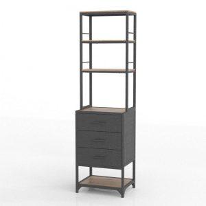 3D Bookcase Kiona Industrial Bejar