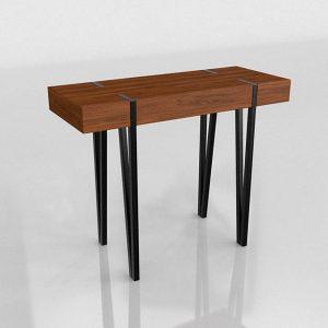 3D Console Table Kiona Industrial Merlin