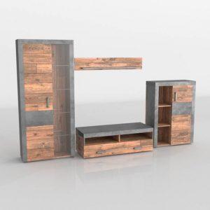 Mueble 3D Salón Kiona Modular Indiana
