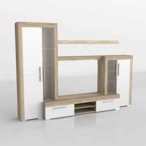 Mueble 3D Salón Kiona Modular Menorca Blanco