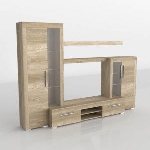 Mueble 3D Salón Kiona Modular Menorca Natural